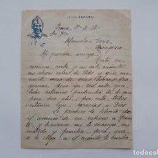 Militaria: GUERRA CIVIL ESPAÑOLA, CARTA BANDO NACIONAL, ZARAGOZA 1938. Lote 137751066