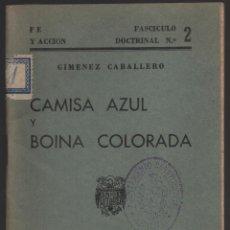 Militaria - LOS COMBATIIENTES.- CAMISA AZUL Y BOINA COLORA, AÑO 1939, VER FOTOS - 137775126