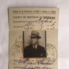 Militaria: RUBIELOS DE MORA(TERUEL) CARNET DE FERROCARRIL (1936-1937). Lote 139027616