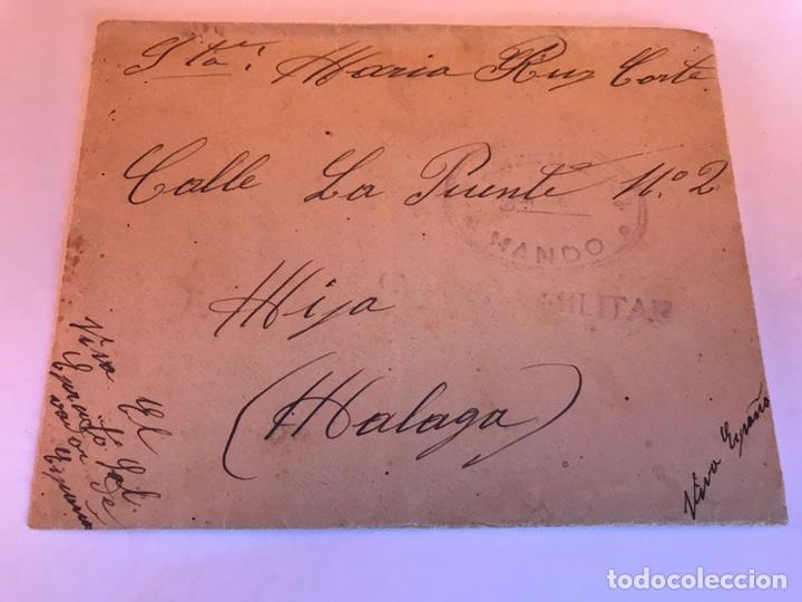 CARTA GUERRA CIVIL CENSURA MILITAR (Militar - Guerra Civil Española)