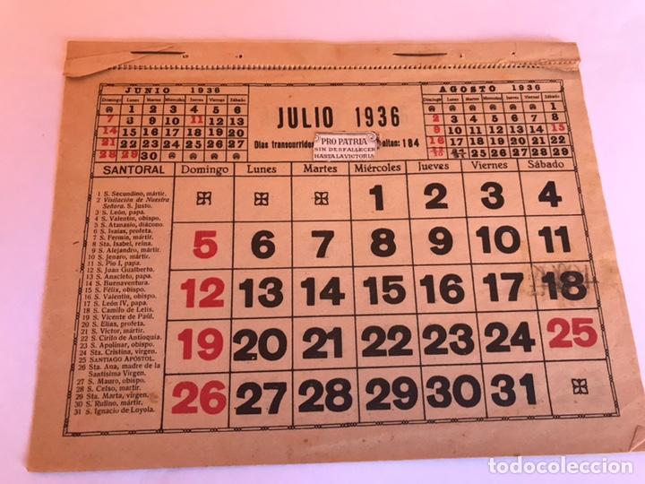 Calendario 1936.Calendario 1936 Desde Julio A Diciembre Sold Through