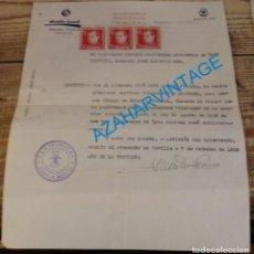 Militaria: SEVILLA, 1939, FALANGE, CERTIFICADO AUXILIO SOCIAL CON VIÑETAS DE JOSE ANTONIO. Lote 139894022