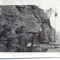 Militaria: SALUDO FASCISTA CTV ITALIANOS SERRA DE CAVALLS BATALLA DEL EBRO NOVIEMBRE 1938 GUERRA CIVIL. Lote 140286094