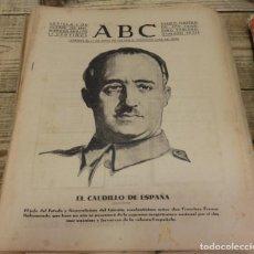 Militaria: ABC 1 DE OCTUBRE DE 1937, ,22 PAGINAS, FRANCO,FRENTES DE ASTURIAS,LEON,MADRID Y ARAGON, ETC. Lote 140418514