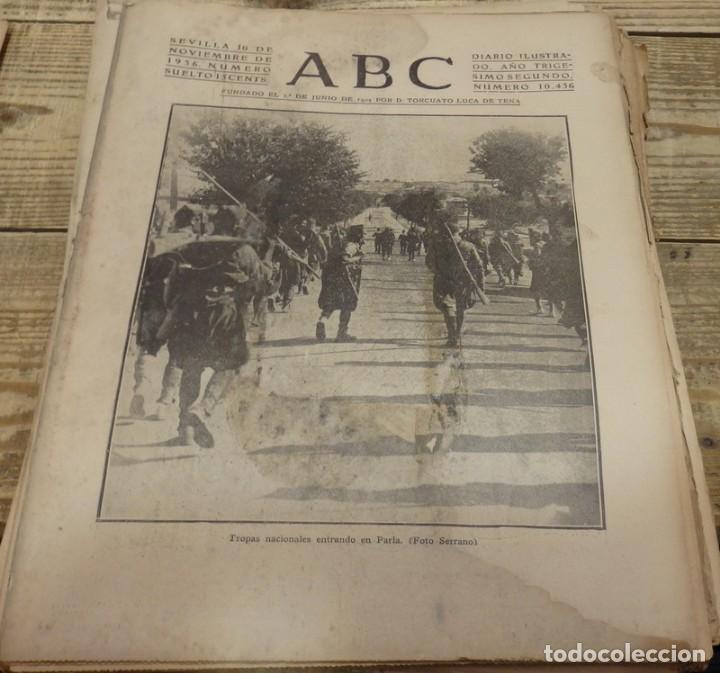 ABC 10 DE NOVIEMBRE DE 1936, 20 PAGINAS, PARLA,GUADIX,MADRID,PARTE DE GUERRA,ETC (Militar - Guerra Civil Española)