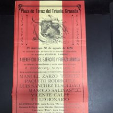 Militaria: CARTEL TOROS 1936 GUERRA CIVIL. Lote 141032714