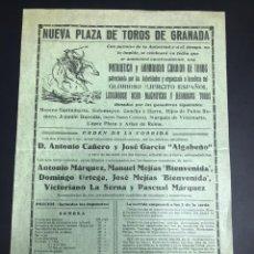 Militaria: CARTEL TOROS GUERRA CIVIL. Lote 141033314