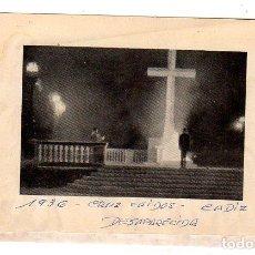 Militaria: CADIZ. FOTOGRAFIA DE LA DESAPECIDA CRUZ DE LOS CAIDOS. 1936. MEDIDAS : 10 X 7 CM APROX.. Lote 141194310