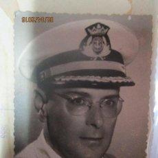 Militaria: OFICIAL MARINA ALTO MANDO CEUTA POST GUERRA CIVIL FIRMADA EN REVERSO. Lote 141520442