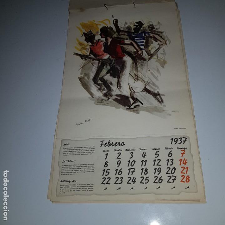 Militaria: ALMANAQUE DE LA REVOLUCION ESPAÑOLA 1937 -diseñado por SIM con los 12 meses del año --- UNICO - Foto 3 - 142420994