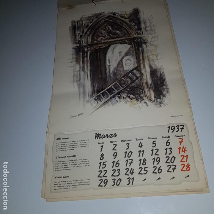 Militaria: ALMANAQUE DE LA REVOLUCION ESPAÑOLA 1937 -diseñado por SIM con los 12 meses del año --- UNICO - Foto 4 - 142420994