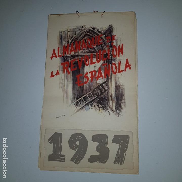 ALMANAQUE DE LA REVOLUCION ESPAÑOLA 1937 -DISEÑADO POR SIM CON LOS 12 MESES DEL AÑO --- UNICO (Militar - Guerra Civil Española)