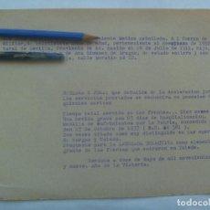 Militaria: GUERRA CIVIL: DECLARACION JURADA TENIENTE MEDICO, MEDALLA SUFRIMIENTO, ALCAZAR TOLEDO, ETC. CORDOBA . Lote 143510034