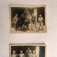 Militaria: MILICIANOS. GUERRA CIVIL. FOTOGRAFÍA ORIGINAL. TIEMPO DE DESCANSO. ALGÚN LUGAR DE VALENCIA (H.1936?). Lote 143802305