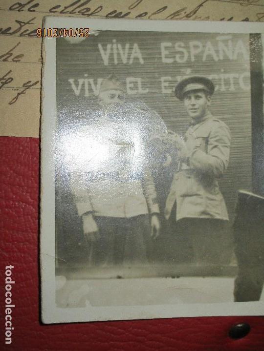 Militaria: FOTOS Y CARTA EFIGIE DE FRANCO FRENTE CATALUÑA FET JONS CENSURA GUERRA CIVIL 1938 BON AUTOMOBIL - Foto 20 - 144098166
