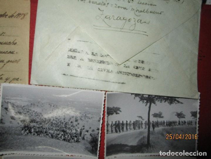Militaria: FOTOS Y CARTA EFIGIE DE FRANCO FRENTE CATALUÑA FET JONS CENSURA GUERRA CIVIL 1938 BON AUTOMOBIL - Foto 25 - 144098166