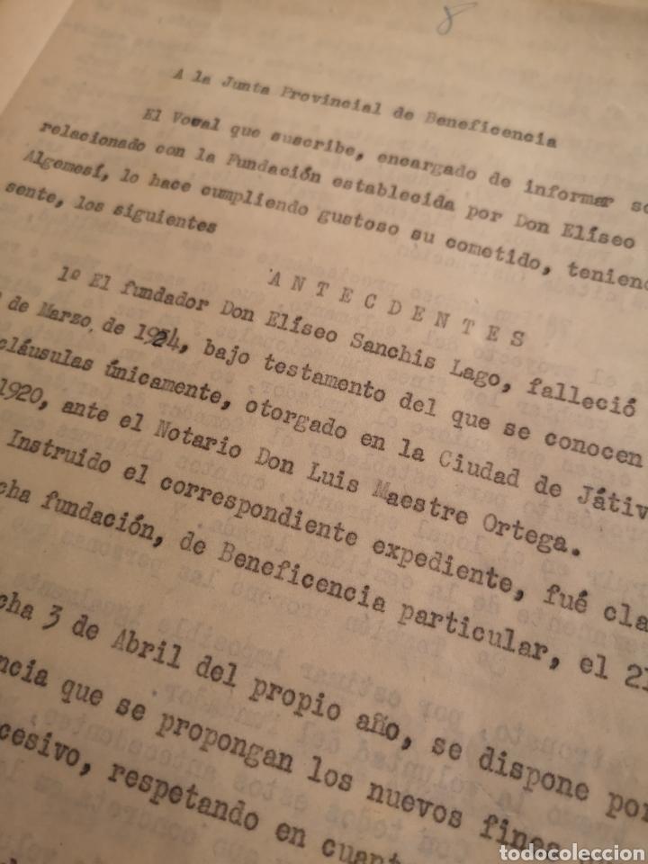 Militaria: ALGEMESI. EXPEDIENTE ELISEO SANCHIS LAGO, VOLUNTADES, REPÚBLICA,1934/35. FUNDACIÓN. LIBERAL-SOCIAL - Foto 3 - 146593865