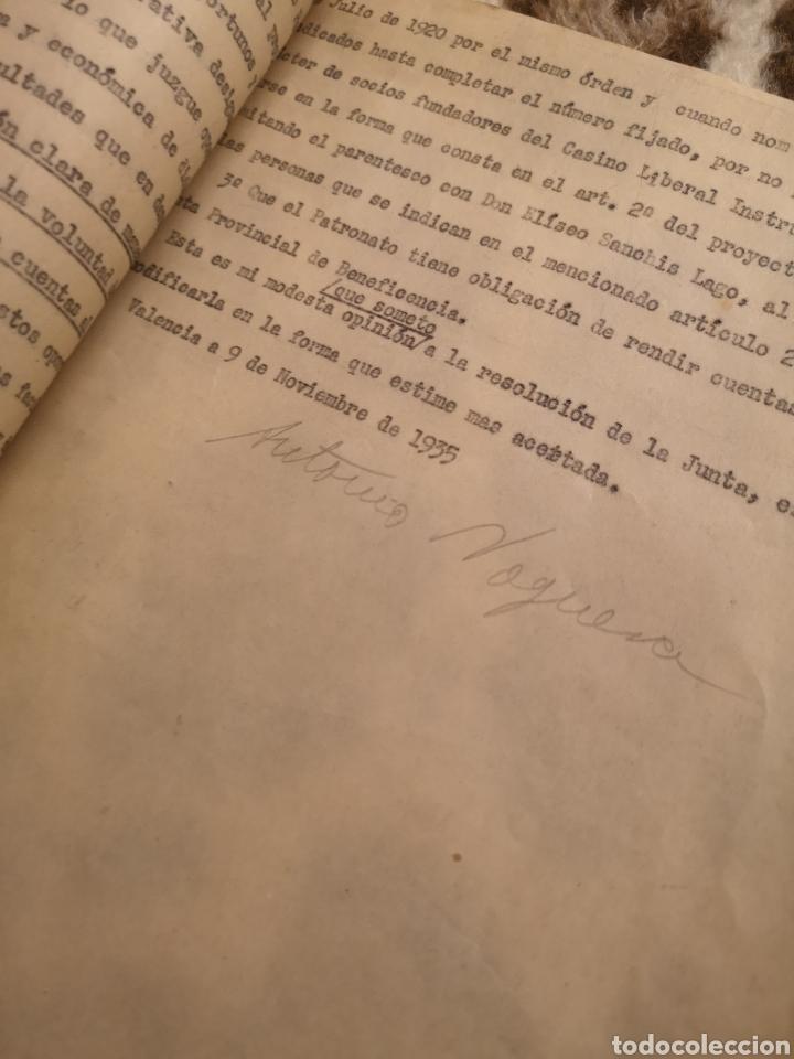 Militaria: ALGEMESI. EXPEDIENTE ELISEO SANCHIS LAGO, VOLUNTADES, REPÚBLICA,1934/35. FUNDACIÓN. LIBERAL-SOCIAL - Foto 5 - 146593865