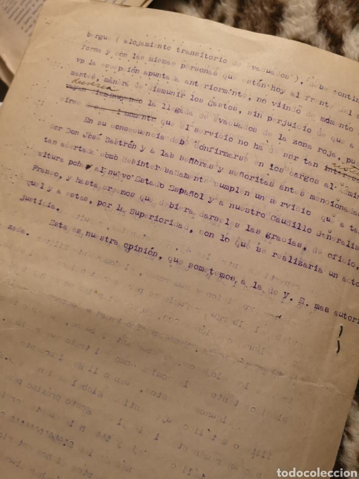 Militaria: 1937 Informe Albergue Nuestra Señora del Pilar Fuenterrabia, zona nacional, guerra civil, refugiados - Foto 3 - 146595998
