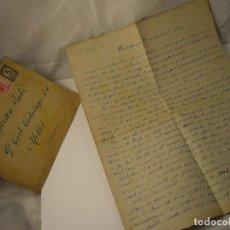 Militaria: CARTA CENSURA MILITAR DE GUERRA 1938. Lote 146696262