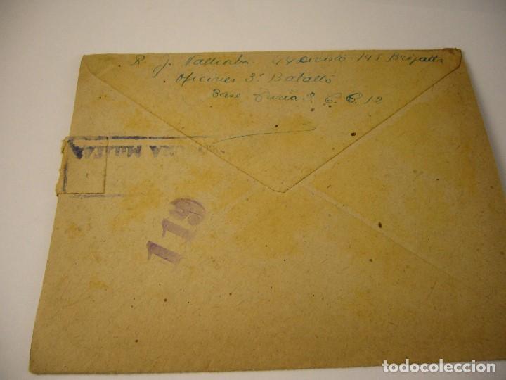Militaria: CARTA CENSURA MILITAR DE GUERRA 1938 - Foto 3 - 146696262