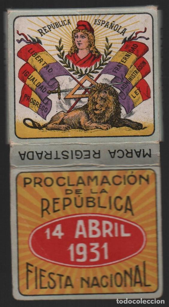 ALCOY, 14 ABRIL 1931, PROCLAMACION DE LA REPUBLICA,-FIESTA NACIONAL,FABRICANTE,LEOPOLDO FERRANDY, (Militar - Guerra Civil Española)