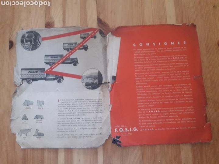 Militaria: Folleto Guerra Civil Fosig UGT de cara a la guerra catalan Comisio Agitacio y Propaganda - Foto 2 - 146239166