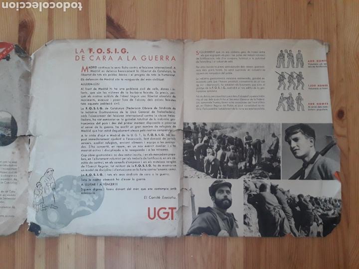 Militaria: Folleto Guerra Civil Fosig UGT de cara a la guerra catalan Comisio Agitacio y Propaganda - Foto 3 - 146239166
