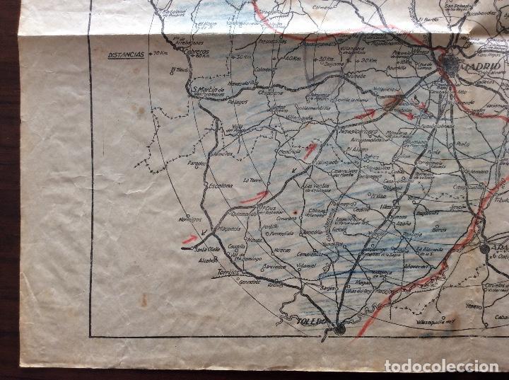 Militaria: MAPA PLANO GUERRA CIVIL. FRENTE DE MADRID. 31 x 43 CMS. - Foto 5 - 147616258