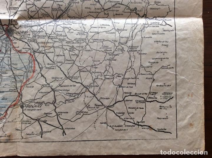 Militaria: MAPA PLANO GUERRA CIVIL. FRENTE DE MADRID. 31 x 43 CMS. - Foto 6 - 147616258