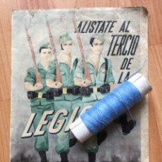 Militaria: ANTIGUO PEQUEÑO CARTEL DE LA POSGUERRA DE LA LEGIÓN ESPAÑOLA. ALEJANDRO FARNESIO. Lote 147730829