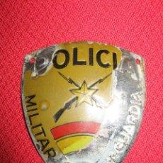 Militaria: PLACA POLICIA MILITAR DE VANGUARDIA, EJÉRCITO NACIONAL. GUERRA CIVIL ESPAÑOLA.. Lote 147785294