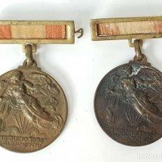 Militaria: PAREJA DE MEDALLAS DE BRONCE. ALZAMIENTO Y VICTORIA. GUERRA CIVIL. 1936-1939. . Lote 148432558