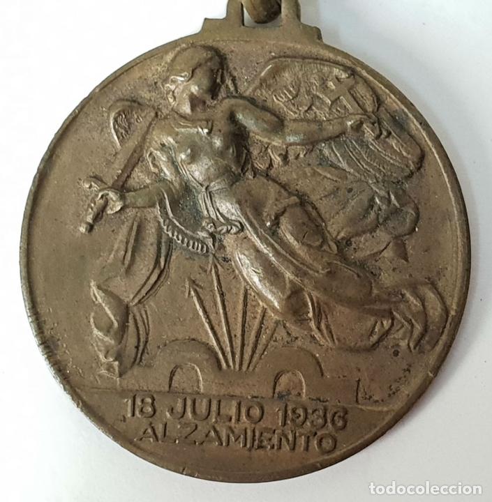 Militaria: PAREJA DE MEDALLAS DE BRONCE. ALZAMIENTO Y VICTORIA. GUERRA CIVIL. 1936-1939. - Foto 2 - 148432558