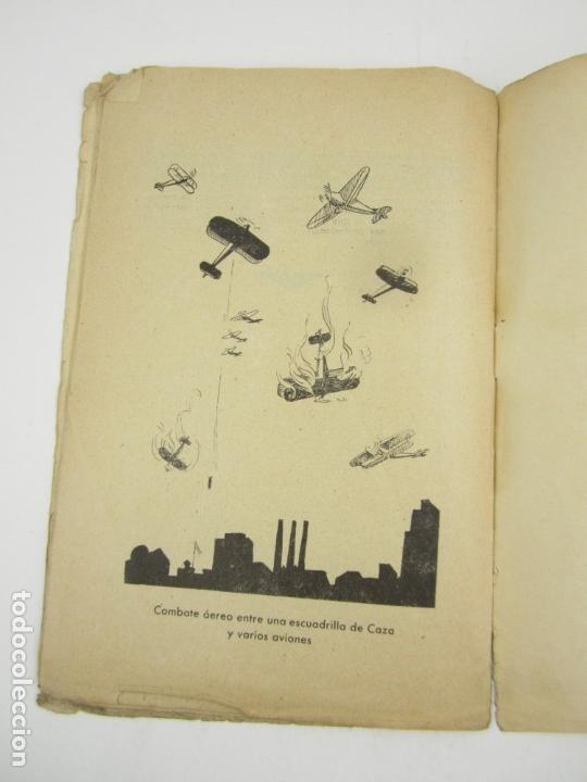 Militaria: Bombardeos, aéreos, marítimos, químicos, panfleto Guerra Civil, medios para defenserse. 23x15,5cm - Foto 3 - 148748486