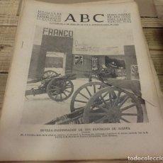 Militaria: ABC 2 DE AGOSTO DE 1938, SEVILLA,18 PAGINAS, FRENTE DEL EBRO, PARTE DE GUERRA,ETC.... Lote 150810454