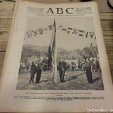 Militaria: ABC 5 DE AGOSTO DE 1938, SEVILLA,18 PAGINAS, FRENTE DEL EBRO Y MEQUINENZA, PARTE DE GUERRA,ETC... Lote 150991346