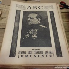 Militaria: ABC 20 DE JULIO DE 1938, SEVILLA,30 PAGINAS, SANJURJO,SECTOR DE CASTELLON, PARTE DE GUERRA,ETC.. Lote 151295674