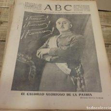 Militaria: ABC 1 DE OCTUBRE DE 1938, 26 PAGINAS, EXTRA JEFATURA DE FRANCO,PARTE DE GUERRA,ETC.. Lote 151490430