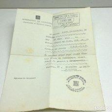 Militaria: SALVOCONDUCTO - GENERALITAT DE CATALUNYA - GUERRA CIVIL1936 - SEGURETAT INTERIOR . Lote 151596254