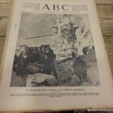 Militaria: ABC 5 DE OCTUBRE DE 1938, 18 PAGINAS,FIESTA DEL CAUDILLO, SECTOR DEL EBRO,PARTE DE GUERRA, ETC. Lote 152037950