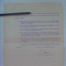 Militaria: GUERRA CIVIL: DECLARACION JURADA TENIENTE MEDICO, MEDALLA SUFRIMIENTO, FRENTE TOLEDO, ETC. 1942.. Lote 152168466