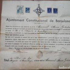 Militaria: FIRMADO CARLES PI I SUNYER. ALCALDE BARCELONA 1936. ESQUERRA REPUBLICANA DE CATALUÑA. GUERRA CIVIL.. Lote 152174054