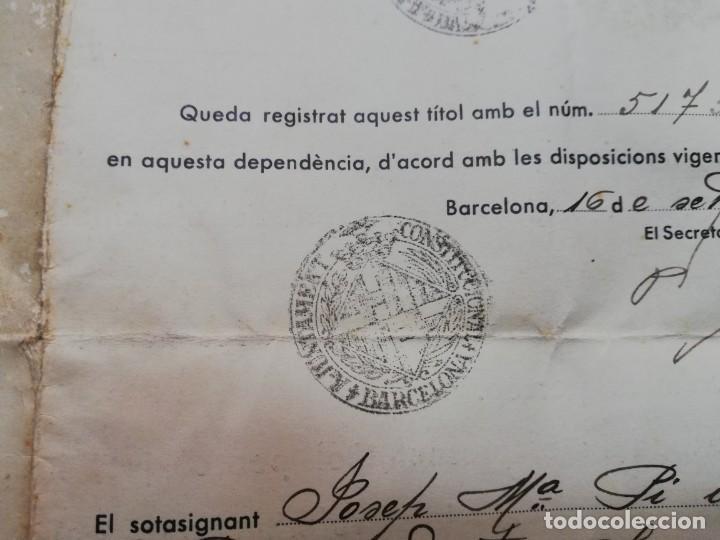Militaria: FIRMADO CARLES PI I SUNYER. ALCALDE BARCELONA 1936. Esquerra Republicana de Cataluña. GUERRA CIVIL. - Foto 4 - 152174054