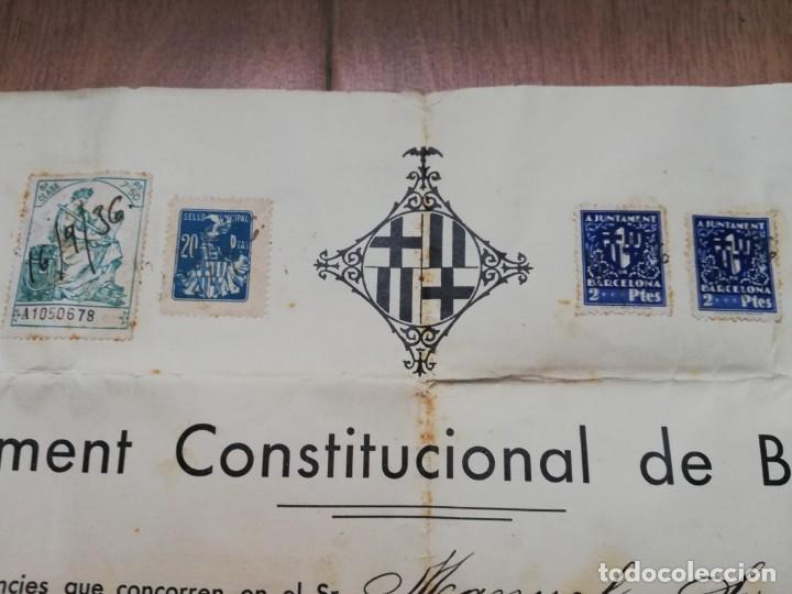 Militaria: FIRMADO CARLES PI I SUNYER. ALCALDE BARCELONA 1936. Esquerra Republicana de Cataluña. GUERRA CIVIL. - Foto 9 - 152174054