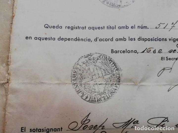 Militaria: FIRMADO CARLES PI I SUNYER. ALCALDE BARCELONA 1936. Esquerra Republicana de Cataluña. GUERRA CIVIL. - Foto 11 - 152174054