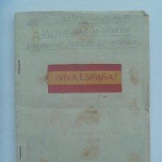 Militaria: GUERA CIVIL: LIBRITO ARTESANAL CON 44 CENSURAS MILITARES: VIGO, SORIA, OVIEDO, TERUEL, ETC ¡¡ RARO !. Lote 152210230