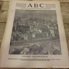 Militaria: ABC 27 DE SEPTIEMBRE DE 1938, SEVILLA,18 PAGINAS,CORDOBA,MANZANERA,FRENTE DEL EBRO,PARTE DE GUERRA,E. Lote 152319290