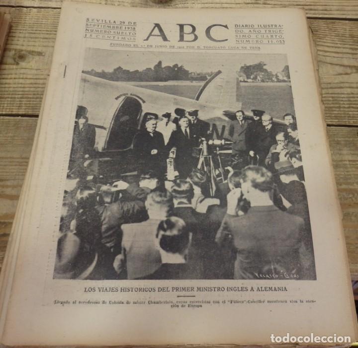 ABC 29 DE SEPTIEMBRE DE 1938, SEVILLA,18 PAGINAS,CORDOBA,CASTELLON, FRENTE DEL EBRO,PARTE DE GUERRA, (Militar - Guerra Civil Española)