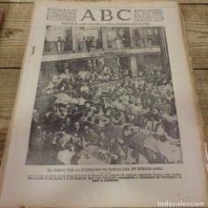 Militaria: ABC 8 DE MARZO DE 1939, SEVILLA,22 PAGINAS,FRENTE DE MADRID,PARTE DE GUERRA,ETC. Lote 152328106